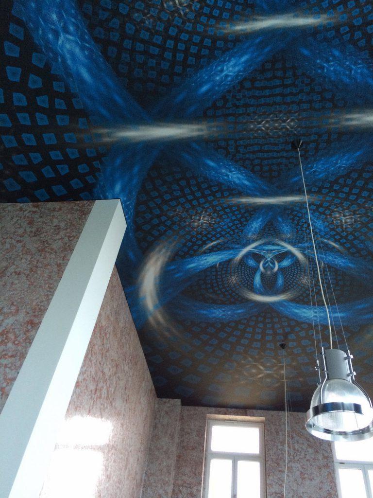 Decken Tapete Blau