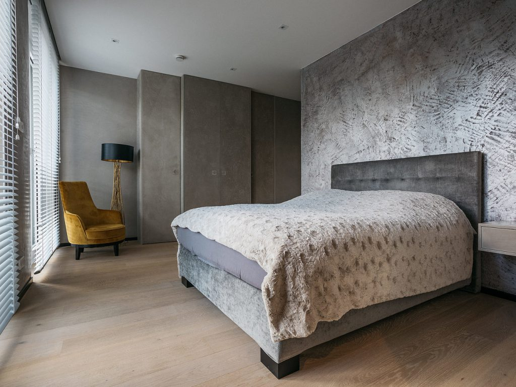 Schlafzimmer Schrank Wand Beton
