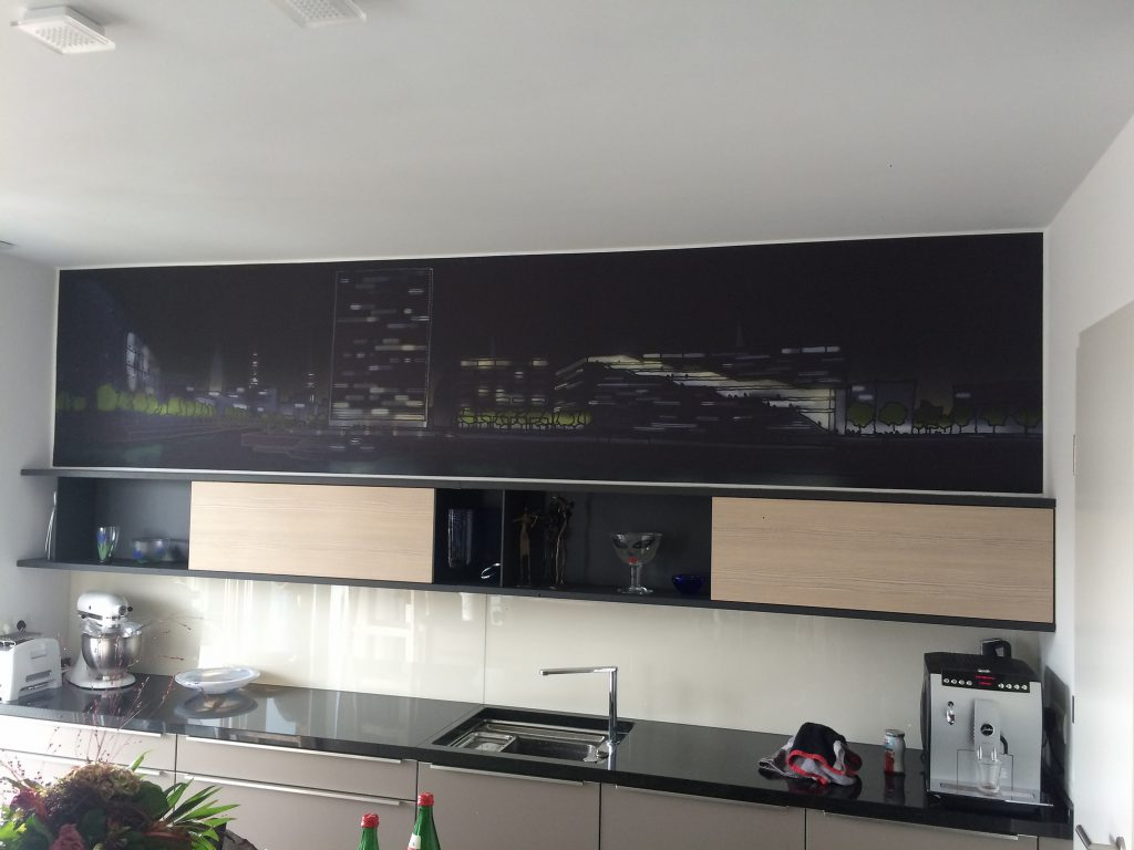Küche Wand Skyline