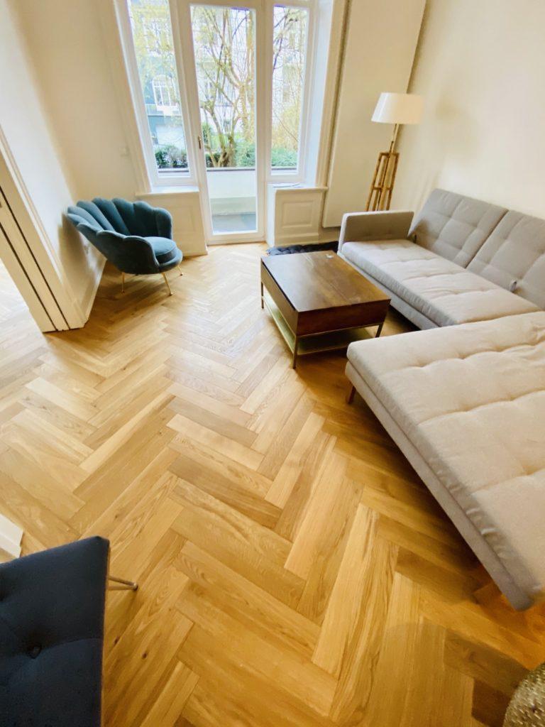 Holzparkett Wohnzimmer