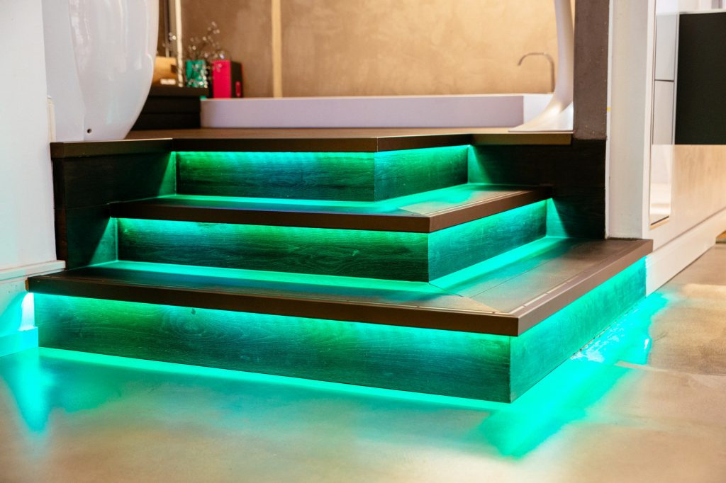 Treppenstufen grünes Licht